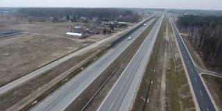 Embedded thumbnail for 26-02-2021 - Widok na trasę główną S17 i obiekty inżynierskie.