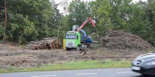 Embedded thumbnail for 31-08-2018 - Profilowanie podłoża pod budowę drogi DOPT2 i rozdrabnianie gałęzi z wycinki