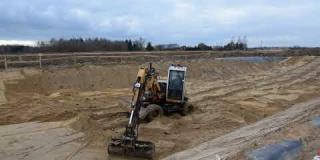 Embedded thumbnail for 14-02-2019 - Budowa zbiornika wodnego ZB-21 w ok. km 22+600.