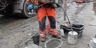 Embedded thumbnail for 14-02-2020 - Badanie jakości betonu przed wbudowaniem w obiekt WED-1 w km 20+490.